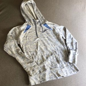White/Blue Women's Thin Sweatshirt Size S